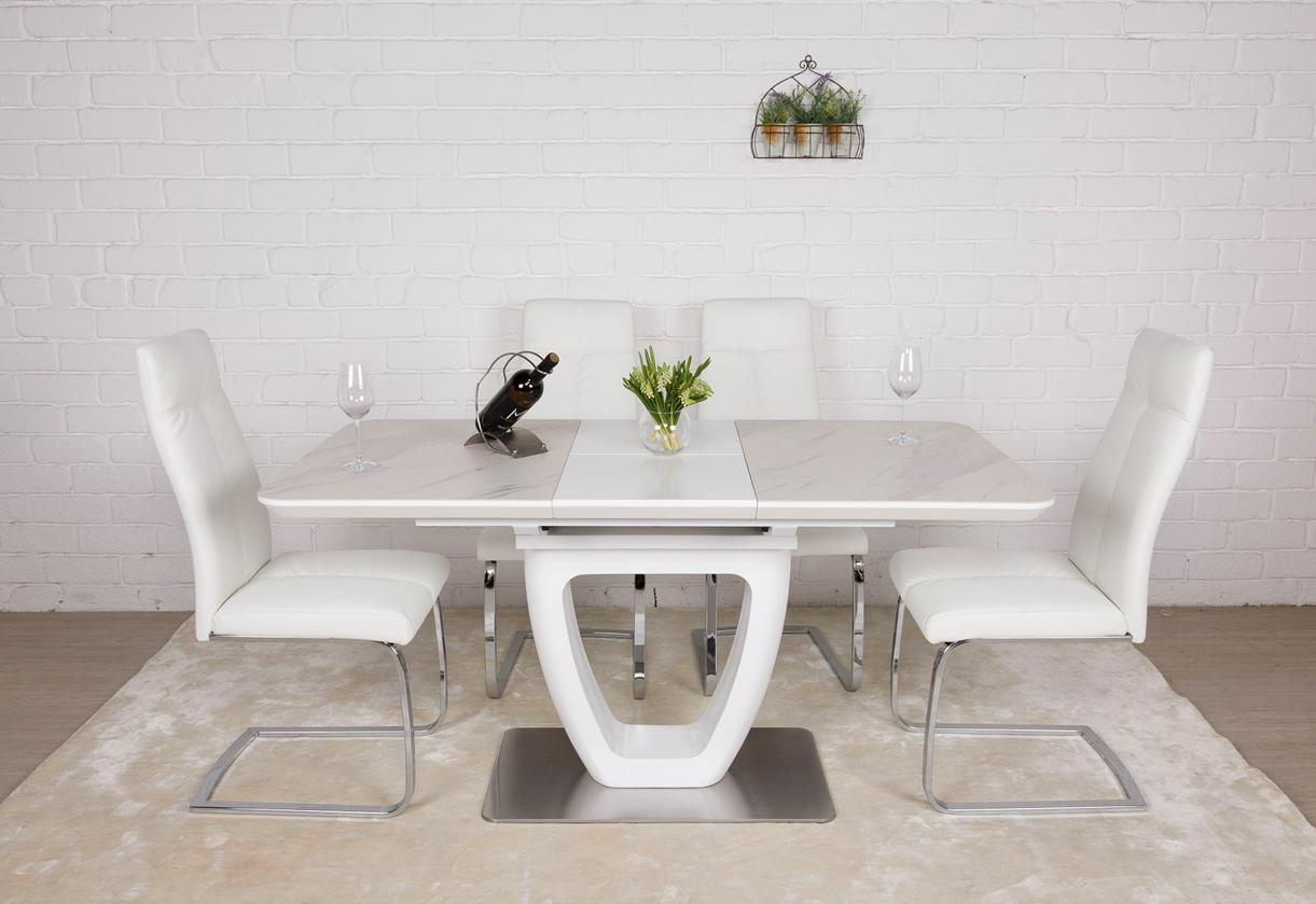 Стол TORONTO (Торонто) керамика белый мат 120/160 от Niсolas
