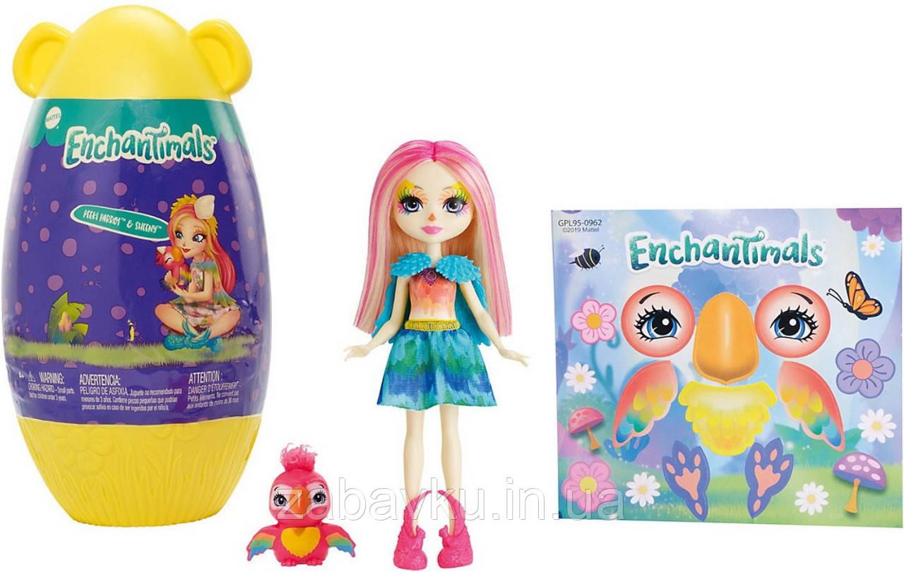 Enchantimals Peeki Parrot Doll & Sheeny Кукла энчантималс Папугай Пики с домиком