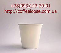 Картонні стакани Білі 110 мл; 50 штук в упаковці. Одноразові Паперові Стакани 110 мл Білі.