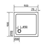 Поддон SMC 90*90*3,5см квадратный, фото 2