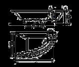 MIRRA ванна 170*110см асимметричная правая, с ножками SN8 и элементами крепления, фото 2