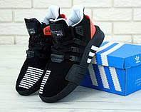 Мужские кроссовки Adidas EQT ADV Black Red (Адидас ЕКТ черного цвета) размеры: 41-45