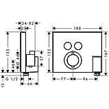 SHOWER Select термостат для двух потребителей, СМ, фото 2