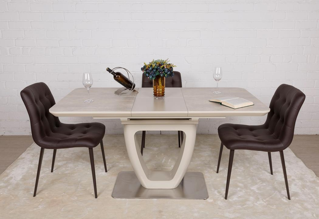 Стол TORONTO (Торонто) керамика бежевая 120/160 от Niсolas