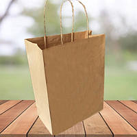 Бумажные пакеты с квадратным дном и ручками 290х230х120 (500 шт в упаковке)