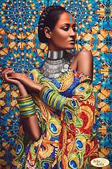 """Схема для вышивки бисером """"Африканка -3"""""""