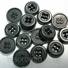 Пуговица рубашечная металлическая, 10 мм диаметр, цвет тёмный металл