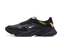 Мужские кожаные кроссовки NIKE AIR 270 Black (реплика)