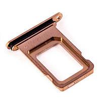 Сим держатель (SIM холдер) для iPhone XS Max sim holder Золотой