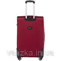 Большой тканевый чемодан красный на 4-х колесах Wings 1609, фото 3