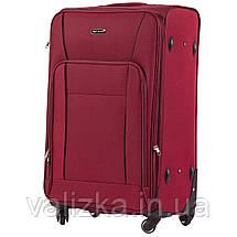 Большой тканевый чемодан красный на 4-х колесах Wings 1609, фото 2