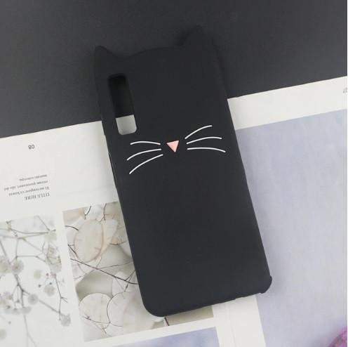 Чохол 3D Cat для Samsung A50 2019 / A505F бампер Вусики Чорний