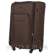 Большой тканевый чемодан коричневый на 4-х колесах Wings 1609, фото 2