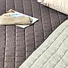 Покрывало двухстороннее стеганое 180хх210см, шоколад/белый Стиль