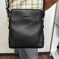 Стильная мужская кожаная сумка планшетка на молнии MC