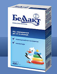 Сухая молочная смесь Беллакт с рождения и до 12 месяцев  400 г