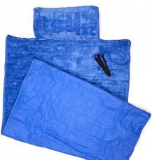 Пляжный коврик с подголовником 80х150 Велюр кремовый, фото 3