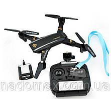 Профессиональный квадрокоптер со складывающимся корпусом Phantom D5HW (Pro) c камерой WiFi HD Black