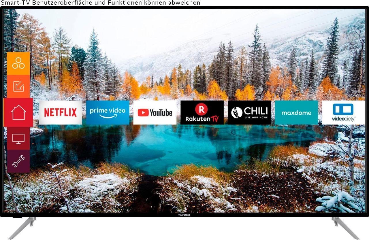 Телевизор Telefunken D65U700M4CWH ( Ultra HD / 4K / 1200Hz / Android / HDR10 / Smart TV / DVB-T/T2/S/S2/C)