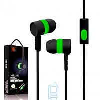 Наушники с микрофоном Beats ME-520 чернo-Зеленый