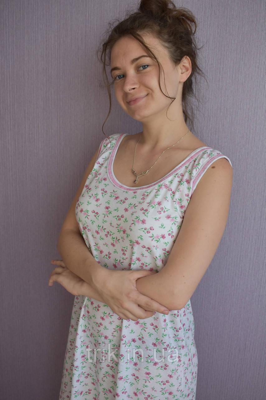 Женская ночная рубашка бордовый букетик (бабушкина)