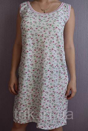 Женская ночная рубашка бордовый букетик (бабушкина), фото 2