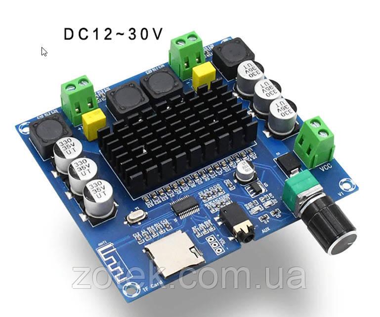 Bluetooth v5.0 Цифровой стерео аудио усилитель TDA7498 2*100W XH-A105  2.0, DC 12-30В