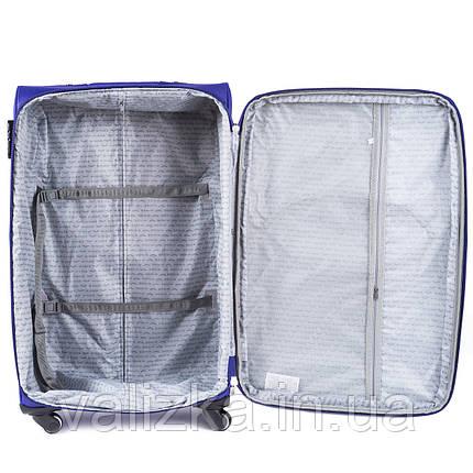 Тканевый чемодан маленький для ручной клади на 4-х колесах Wings 1708 черного цвета, фото 2
