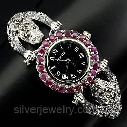 Серебряные часы с МАРКАЗИТАМИ (натуральные) серебро 925 пробы