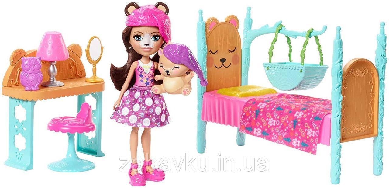 Набор кукла энчантималс Ведмедица спальня мечты Enchantimals Bedroom Bren Bear