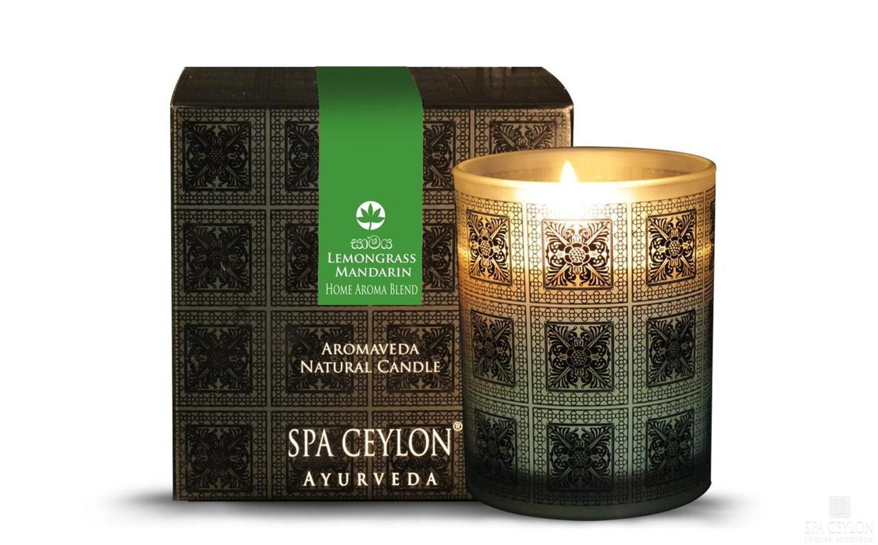 ЛЕМОНГРАСС И МАНДАРИН- Натуральная ароматическая свеча 200 г