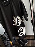 Мужская футболка с принтом хлопок летняя молодежная Palm Angels черная Турция. Живое фото. Топ качество, фото 4
