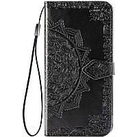 Кожаный чехол (книжка) Art Case с визитницей для Samsung A750 Galaxy A7 (2018)