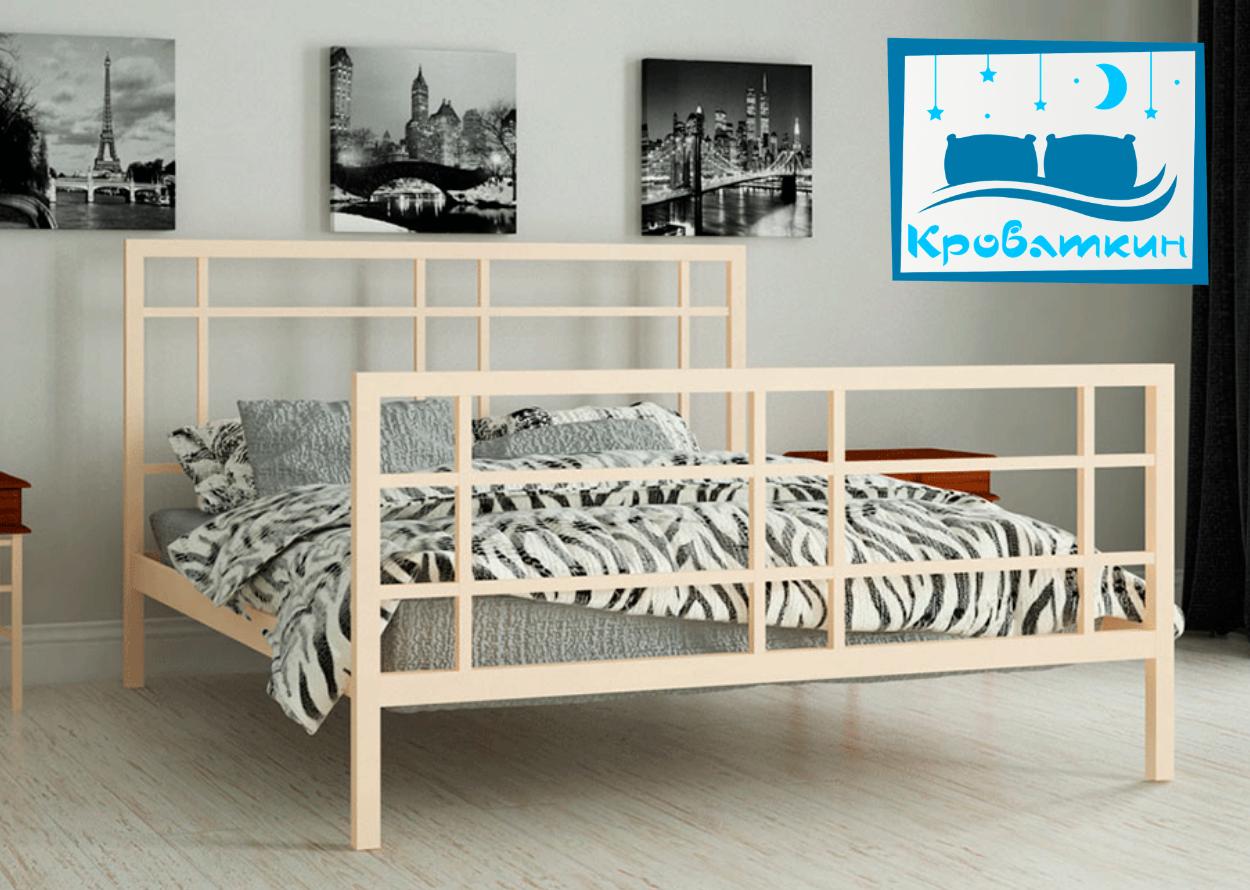 Металлическая кровать Дейзи 80х190см Мадера