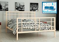 Металлическая кровать Дейзи 80х190см Мадера, фото 1