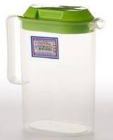 Кувшин пластиковый Ucsan с крышкой 2 л, фото 1