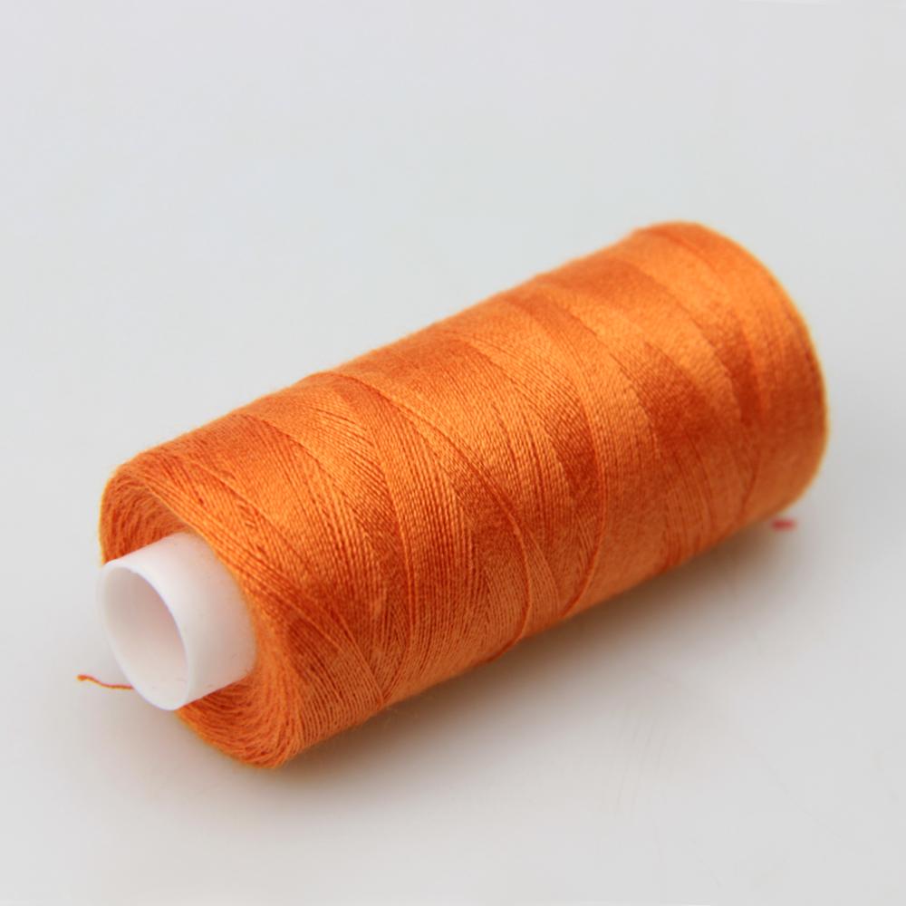 Нитки швейные 40/2 Kiwi 400 ярдов тон 145 оранжевый