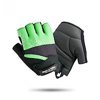 Жіночі рукавички для фітнесу Way4you Green, шкіра, чорний/зелений (ВФЮ w-1734) S