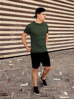 Футболка + шорты комплект набор костюм летний мужской стильный модный зеленый хаки Asos
