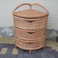 Комод угловой плетение из лозы