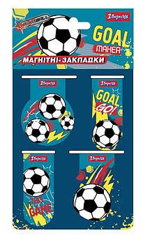 """Закладки магнитные 1Вересня """"Team football"""""""