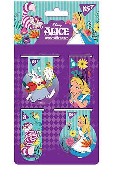 "Закладки магнитные YES ""Alice"", 4 шт"