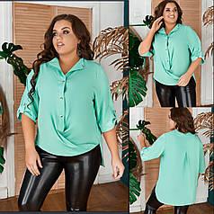 Блуза   БАТАЛ в расцветках 27712