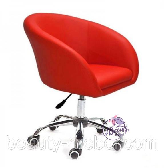 Кресло Мурат К, мягкое, на колесах, цвет красный