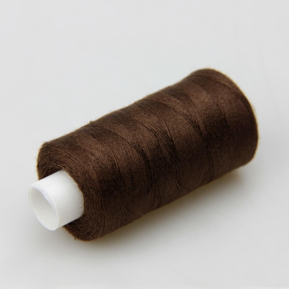 Нитки швейные 40/2 Kiwi 400 ярдов тон 494 темно-коричневый