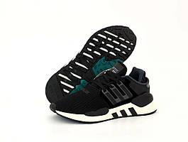 Мужские кроссовки Adidas EQT ADV Black White (Адидас ЕКТ черно-белые весна/лето 41-45)