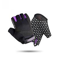 Рукавички для фітнесу Way4you Violet Жіночі Чорний-фіолетовий (ВФЮ w-1751) S