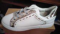 Кроссовки женские белые Siying,размеры 36,37,38,39,40,41