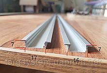 Алюмінієвий профіль для світлодіодної стрічки (LED) врізний анодований