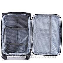 Середній текстильний валізу сірий на 4-х колесах Wings 6802, фото 2